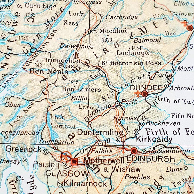 Kleinesbild - SCHOTTLAND Edinburgh ♥ toller Briefumschlag Landkarte *upcycling*