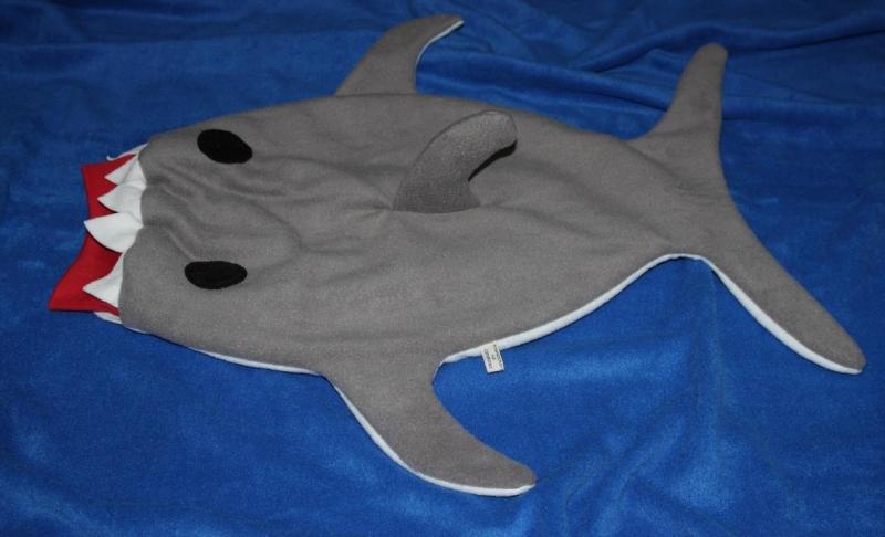 Kleinesbild - Baby Pucksack Schlafsack Hai Strampelsack Gr. 62/68 shark sleepingbag