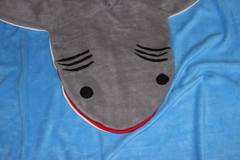 Kleinesbild - Kinder Schlafsack Hai Strampelsack shark puck bag sleeping bag children