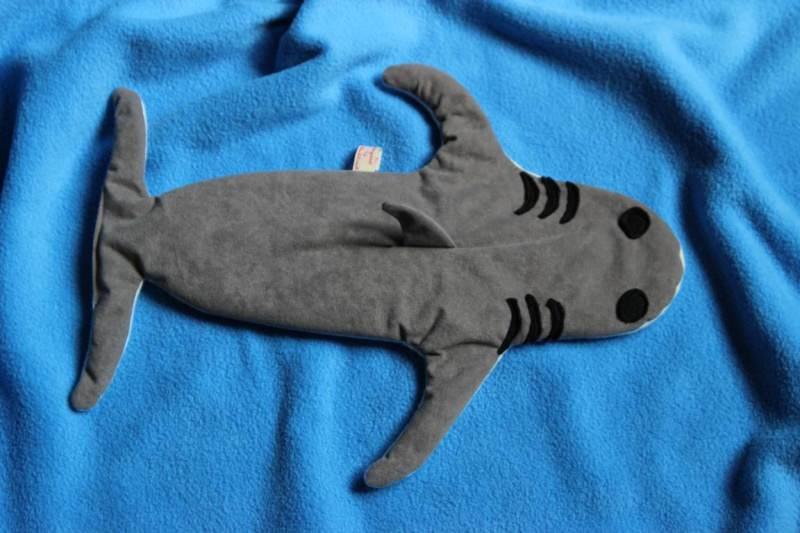 Kleinesbild - Hai Wärmekissen Körnerkissen Hai Weizen Kissen