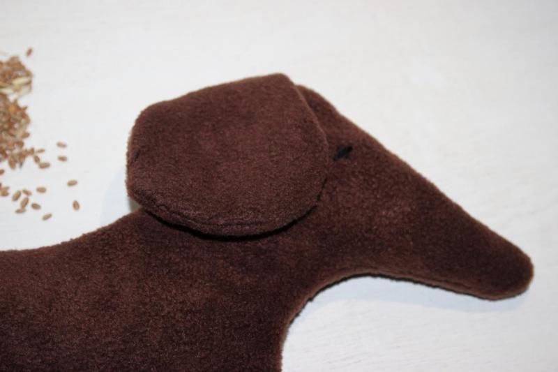 Kleinesbild - Dackel Wärmekissen Körnerkissen Weizen Kissen Hund