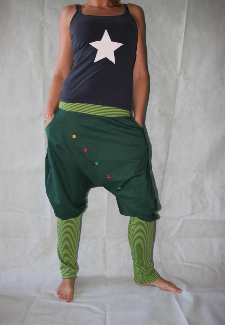 - Pumphose Knickerbocker gestreifte Stulpen grüne Haremshose pants - Pumphose Knickerbocker gestreifte Stulpen grüne Haremshose pants