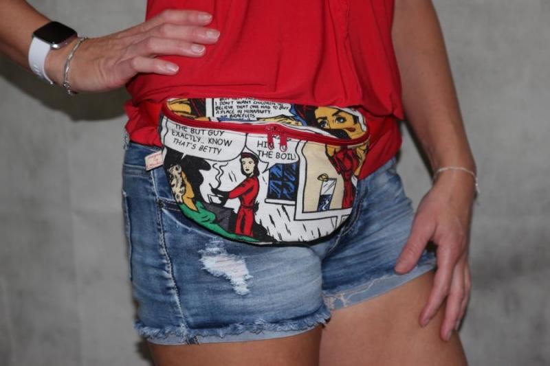 Kleinesbild - Bauchtasche Comic Gürteltasche Hip Bag Bauch Tasche Beutel
