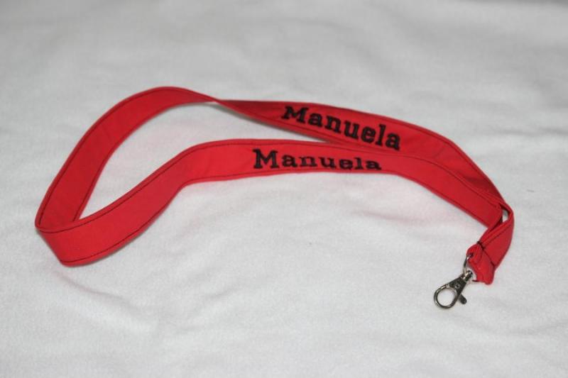 Kleinesbild - Schlüsselanhänger mit Name Namensbänder Umhängeband