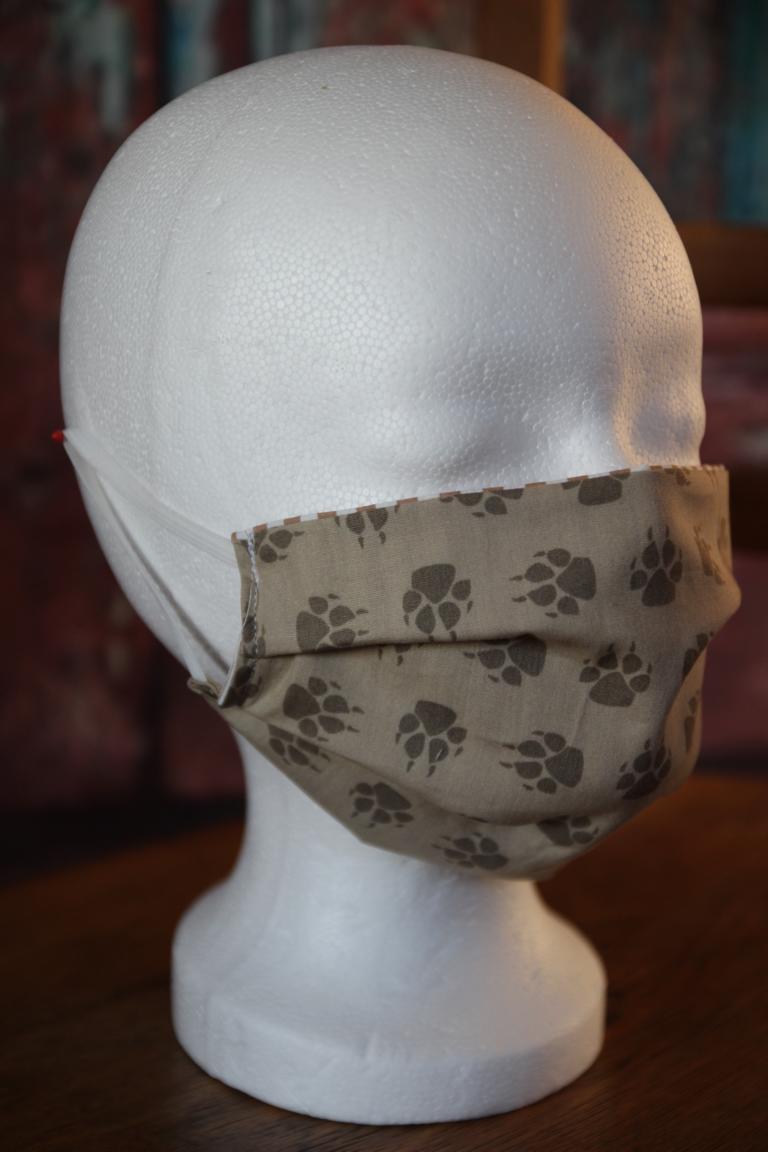 Kleinesbild - Mundbedeckung Maske Mundmaske Mund-  und Nasenbedeckung Pfoten