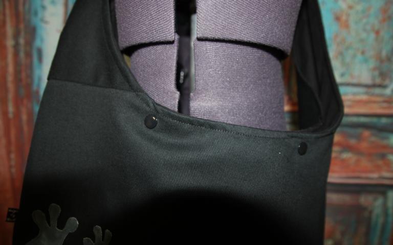 Kleinesbild - schwarze Yogatasche Tasche Yoga XXL Umhängetasche Frosch