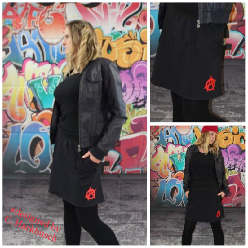 - schwarz Rock mini Punk Gothic Anarchie Zeichen - schwarz Rock mini Punk Gothic Anarchie Zeichen