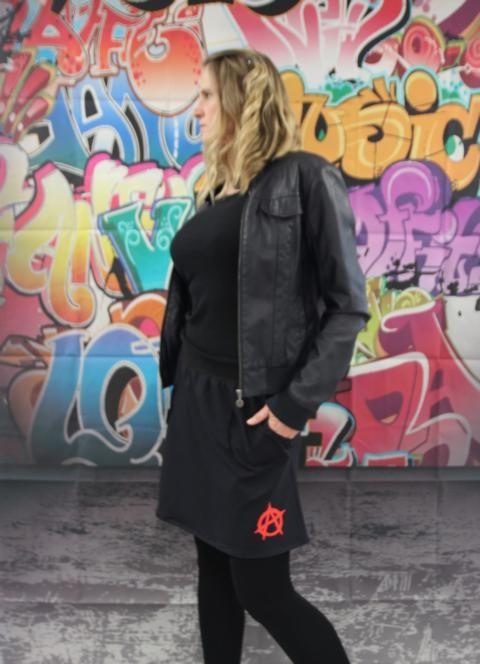 Kleinesbild - schwarz Rock mini Punk Gothic Anarchie Zeichen