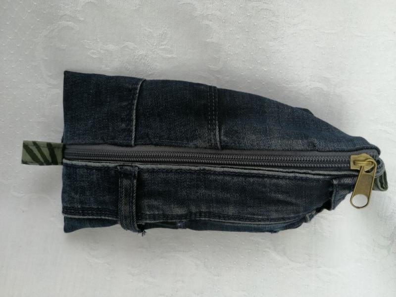 - Utensilio - Stiftemäppchen - Kosmetiktäschchen - Jeansupcycling - Used Look - Utensilio - Stiftemäppchen - Kosmetiktäschchen - Jeansupcycling - Used Look