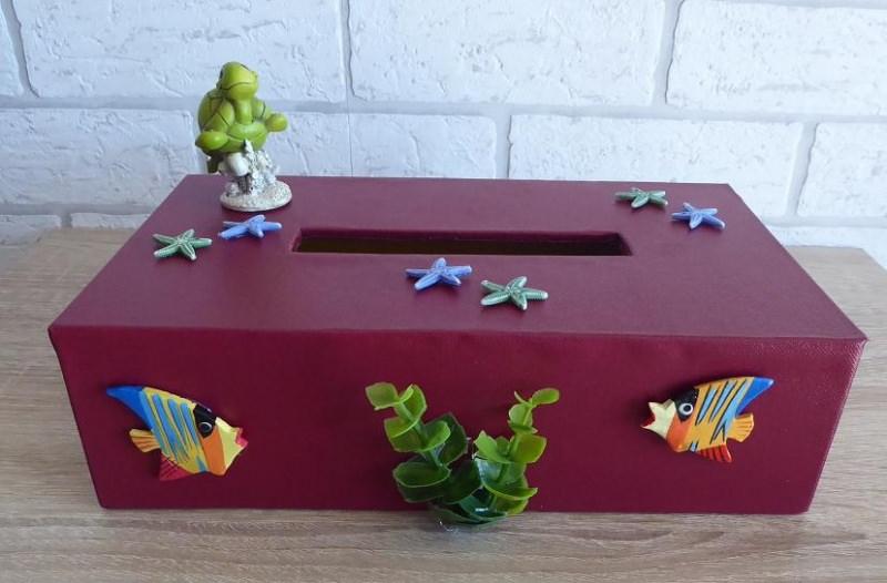 Kleinesbild - Taschentuch-/Kosmetiktuchbox - Unterwasserwelt