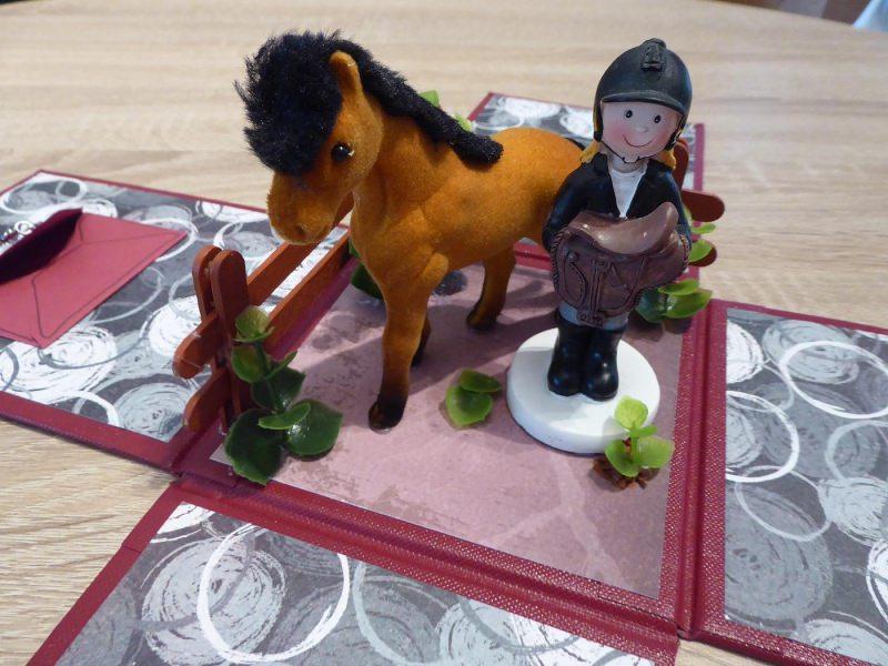 - Geldgeschenkverpackung - Reiterin/Pferd - Geldgeschenkverpackung - Reiterin/Pferd