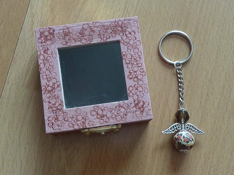- Schlüsselanhänger Engel Geschenkset - braun-beige - Schlüsselanhänger Engel Geschenkset - braun-beige