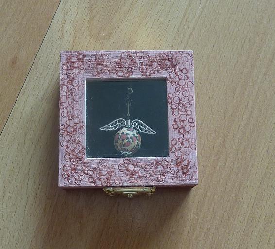 Kleinesbild - Schlüsselanhänger Engel Geschenkset - braun-beige