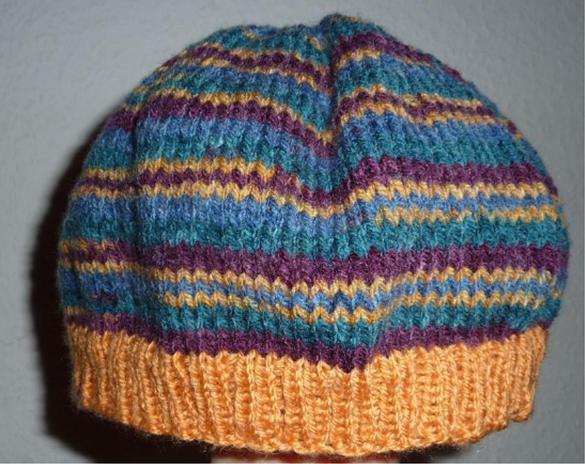 - gehäkelte Mütze - gestreift - mehrfarbig - gehäkelte Mütze - gestreift - mehrfarbig