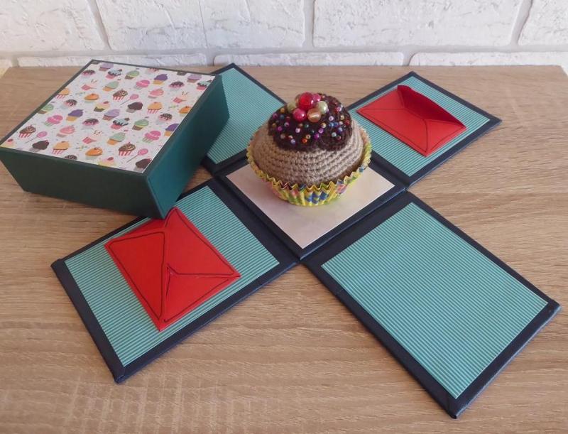 Kleinesbild - Geldgeschenkverpackung - Cupcake