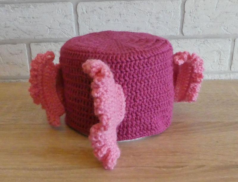 Kleinesbild - Gehäkelter Klopapierhut - Fisch - rosa-pink