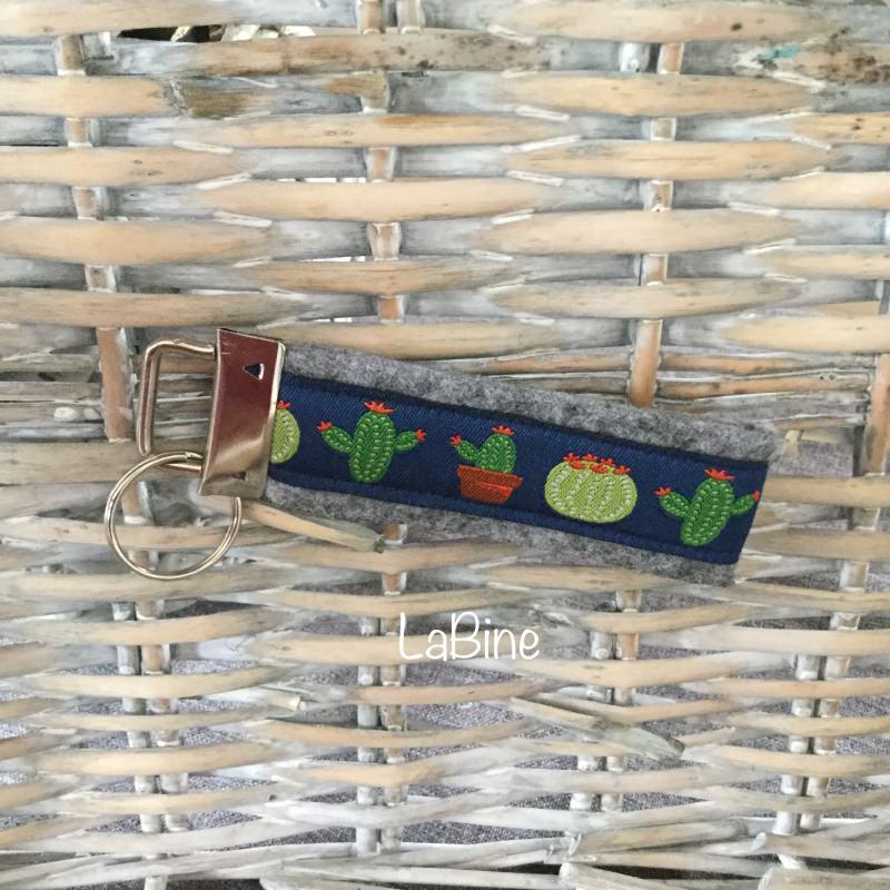 - Schlüsselanhänger Schlüsselband Filz Kakteen - Schlüsselanhänger Schlüsselband Filz Kakteen