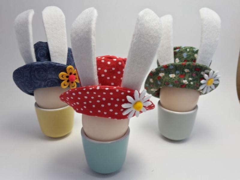 - Osterhasen-Hütchen, Eierwärmer fürs Osterfrühstück - Osterhasen-Hütchen, Eierwärmer fürs Osterfrühstück