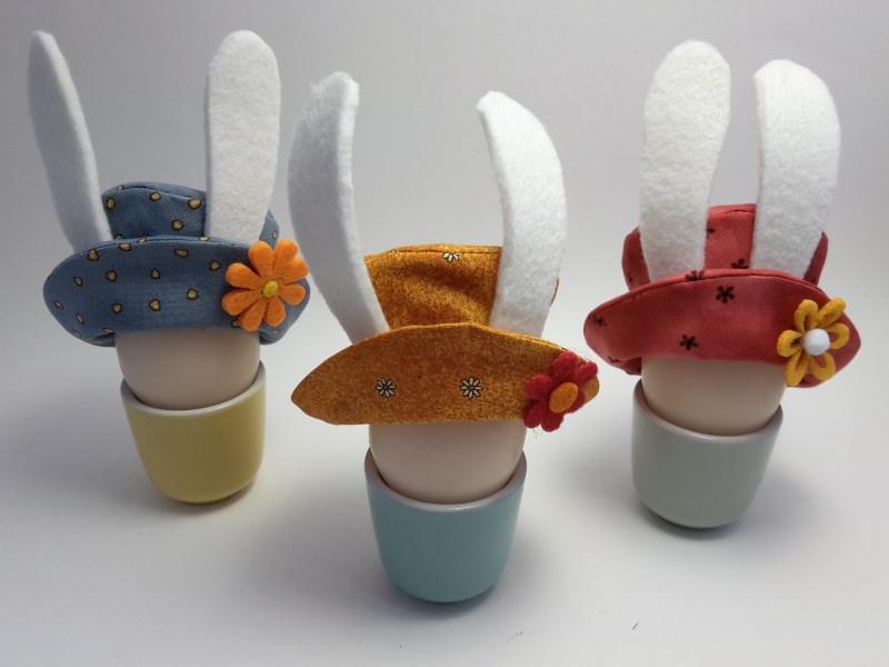 Kleinesbild - Osterhasen-Hütchen, Eierwärmer fürs Osterfrühstück