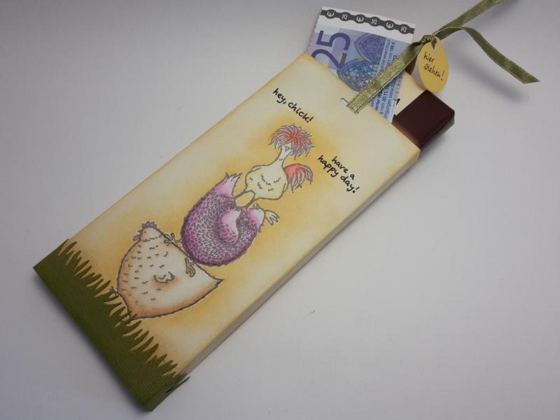 Kleinesbild - Ungewöhnliche Verpackung für Geldgeschenk mit Schokolade - Motivauswahl