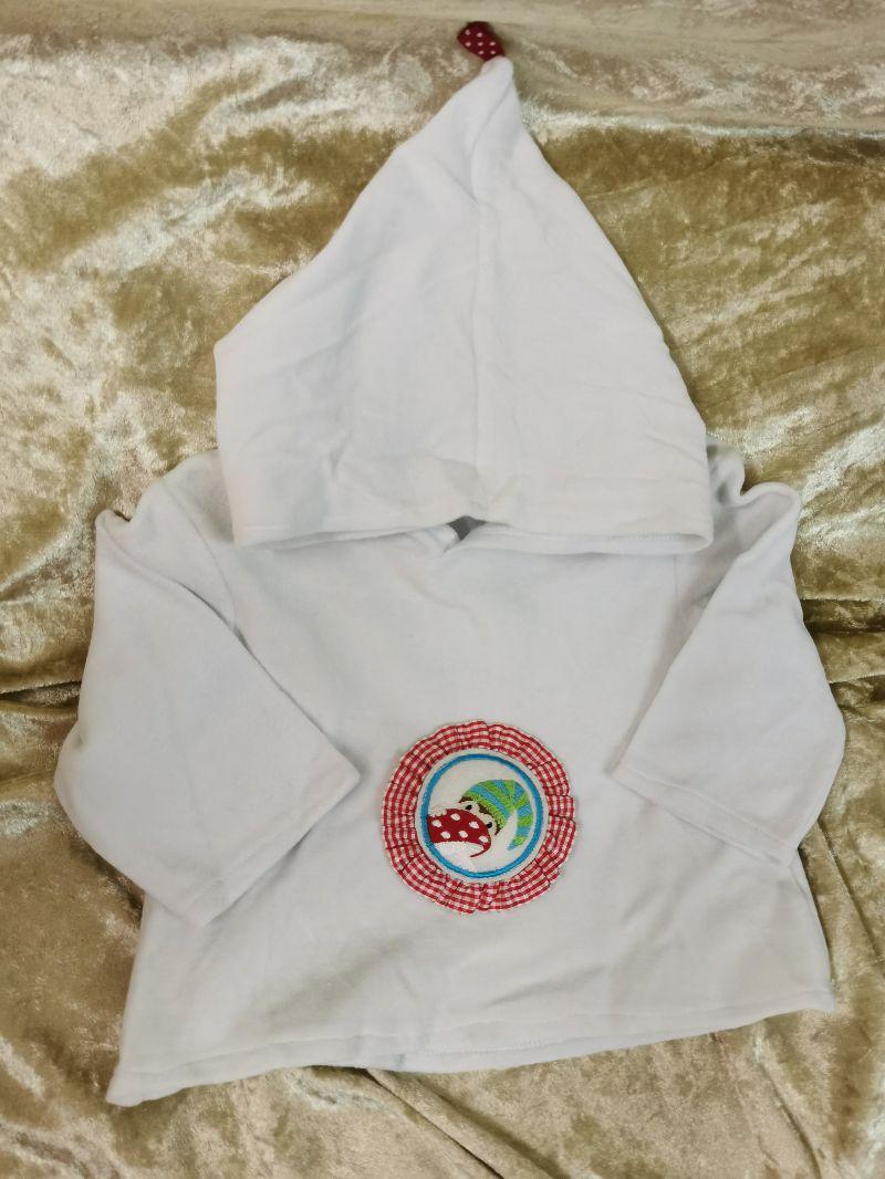 - Langarmshirt mit Zipfelmütze ´Zwerg` Gr. 62/68 - Langarmshirt mit Zipfelmütze ´Zwerg` Gr. 62/68