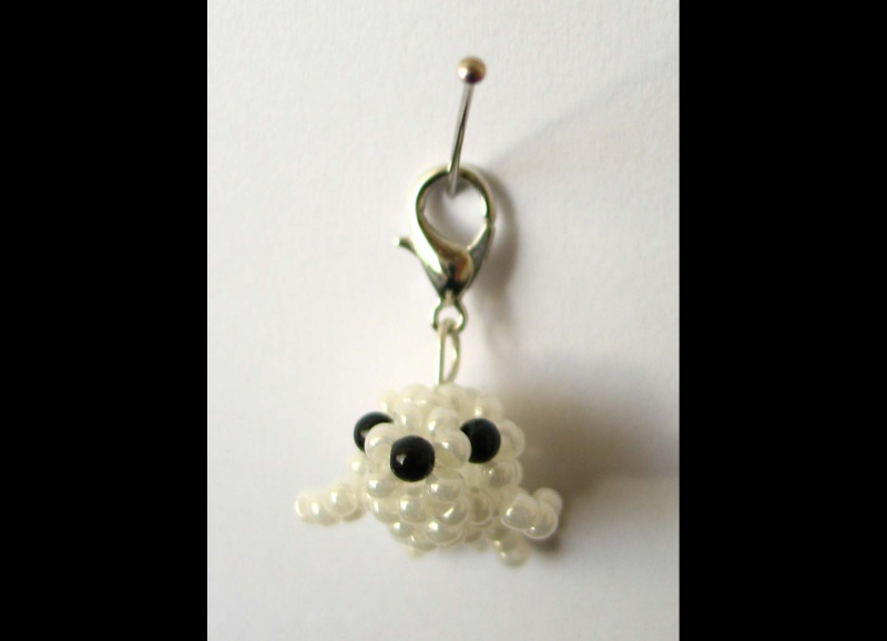 - Charm Robbenbaby aus Rocailles - Charm Robbenbaby aus Rocailles