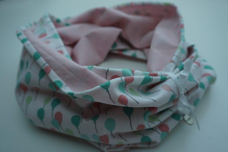 Kleinesbild - Baumwoll-Loop pastell / sommerlicher Schal mit Ballons * handgenäht