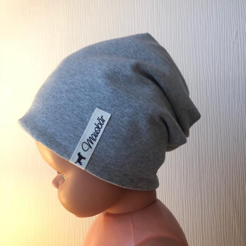 -  Beanie,  Mütze,  Kindermütze,  doppellagig,  53 - 55 cm, von Mausbär -  Beanie,  Mütze,  Kindermütze,  doppellagig,  53 - 55 cm, von Mausbär