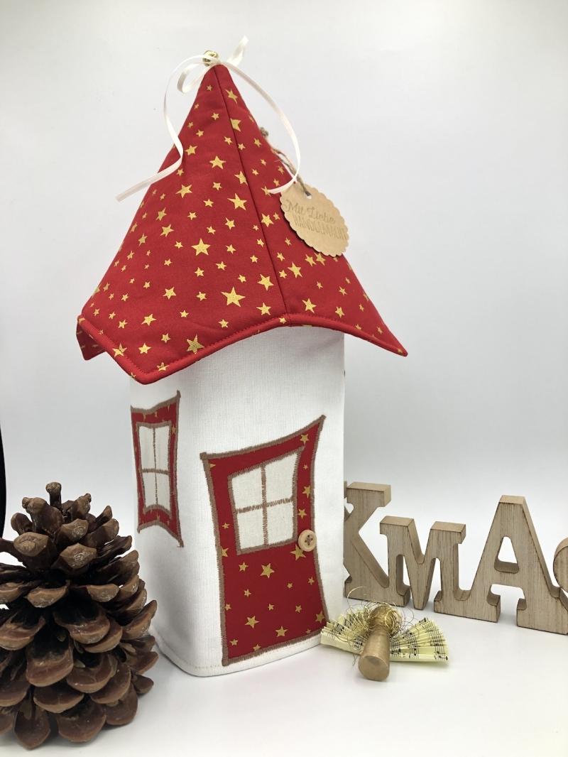 -   Lichthaus,  ca. 34 cm,  Wichtelhäuschen,  Weihnachtshaus,  Weihnachtslampe,   Weihnachtsdeko, Fensterdeko, rot, gold -   Lichthaus,  ca. 34 cm,  Wichtelhäuschen,  Weihnachtshaus,  Weihnachtslampe,   Weihnachtsdeko, Fensterdeko, rot, gold