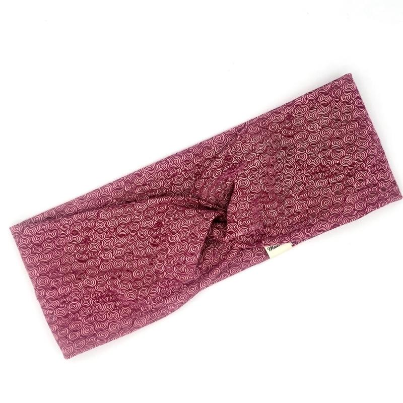 Kleinesbild - Stirnband, Haarband , Bandeau , Boho-Stirnband 48 - 53 cm, altrosa