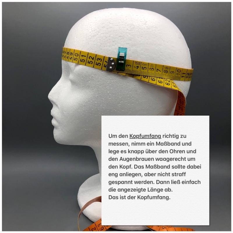 Kleinesbild - Stirnband, Haarband , Bandeau , Boho-Stirnband 54 - 57 cm, grau mit Pusteblumen