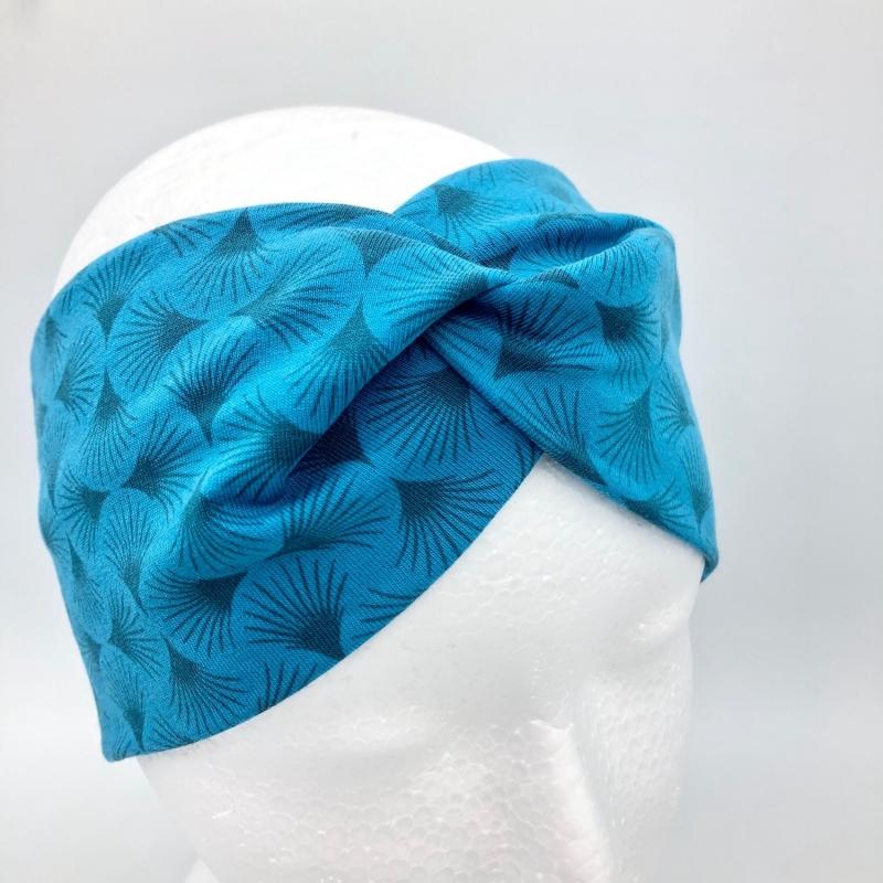Kleinesbild - Stirnband, KU 54 - 57 cm, Haarband, Bandeau, Boho-Stirnband, türkis