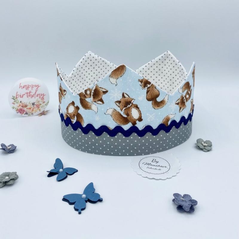 Beutel 5 Stück Kinder-Kronen mit Klettband zur Größenverstellung