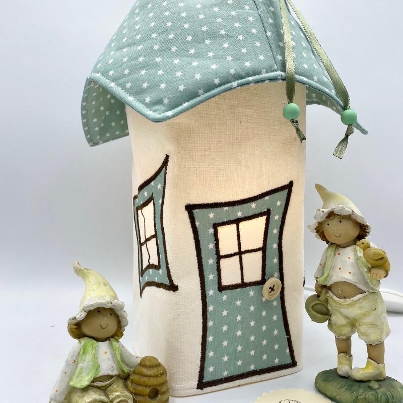 - Bezug für Nachtlicht, Kinderzimmerlampe, Tischleuchte, Kinderlampe , Wichtelhäuschen, von Mausbär - Bezug für Nachtlicht, Kinderzimmerlampe, Tischleuchte, Kinderlampe , Wichtelhäuschen, von Mausbär