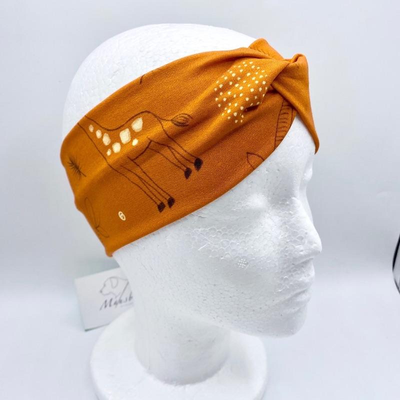 Kleinesbild - Stirnband, KU 54 - 56 cm, Haarband , Bandeau , Boho-Stirnband, Safari, von Mausbär