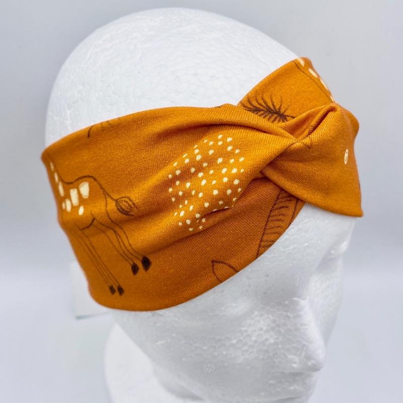 - Stirnband, KU 54 - 56 cm, Haarband , Bandeau , Boho-Stirnband, Safari, von Mausbär  - Stirnband, KU 54 - 56 cm, Haarband , Bandeau , Boho-Stirnband, Safari, von Mausbär