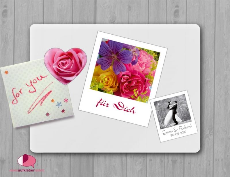 Kleinesbild - 20 Fotomagnete - Polaroid | Gastgeschenke für Hochzeit - personaliserbar mit Foto und Wunschtext