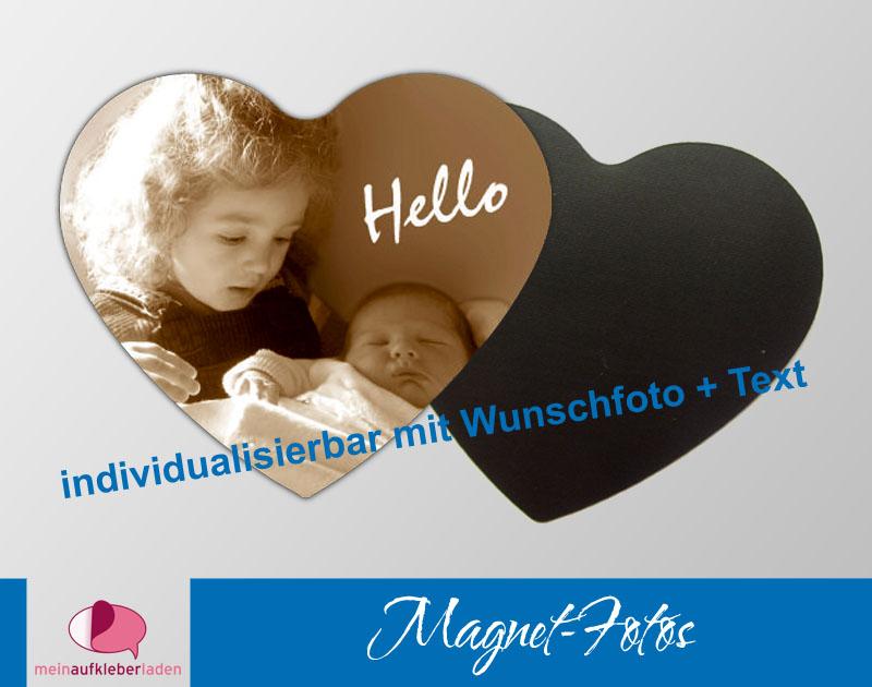 - 15 Fotomagnete - Herz | Geschenkidee zur Geburt - personaliserbar mit Foto und Wunschtext  - 15 Fotomagnete - Herz | Geschenkidee zur Geburt - personaliserbar mit Foto und Wunschtext