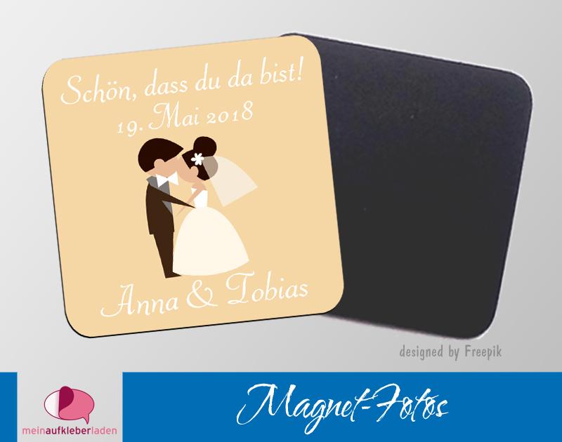 - 15 Magnetbilder | Schön, dass du da bist,  Brautpaar - 15 Magnetbilder | Schön, dass du da bist,  Brautpaar