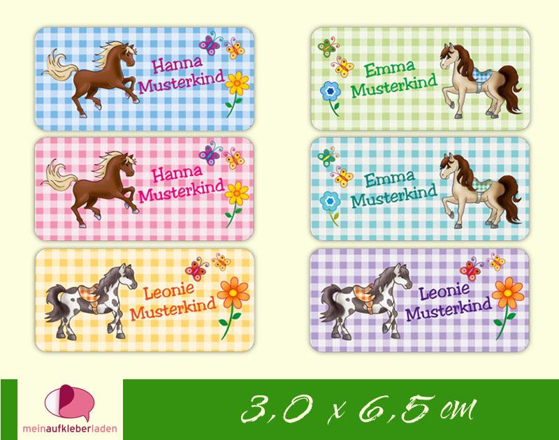 - 24 Namensaufkleber    Pony   eckig - personalisierbar   Namensetiketten, Schuletiketten  - 24 Namensaufkleber    Pony   eckig - personalisierbar   Namensetiketten, Schuletiketten