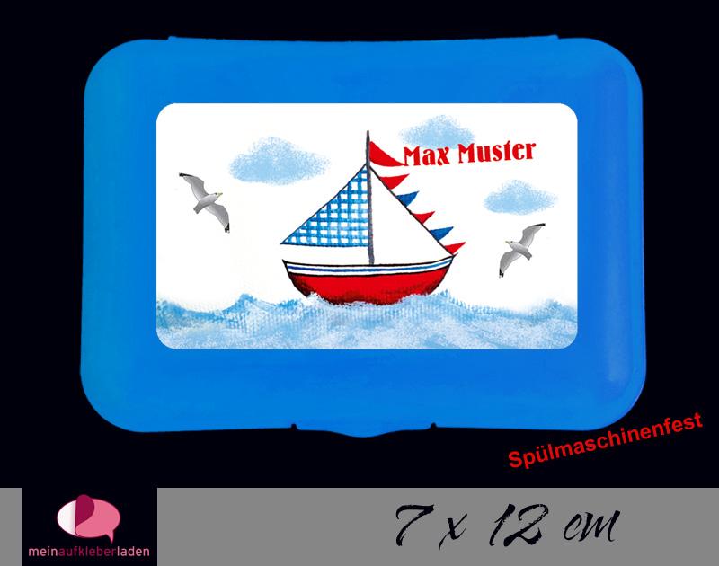 - Aufkleber für Brotdosen | Segelschiff | personalisierbar | große Namensetiketten, Schuletiketten  - Aufkleber für Brotdosen | Segelschiff | personalisierbar | große Namensetiketten, Schuletiketten
