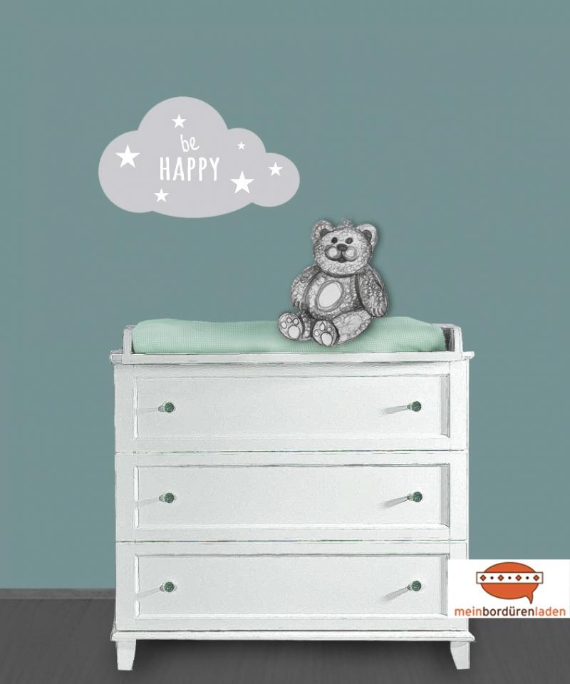 Kleinesbild - Wandtattoo | Wolke & Sternchen - mit Name personalisierbar | Türaufkleber - Wandaufkleber für Kinderzimmer