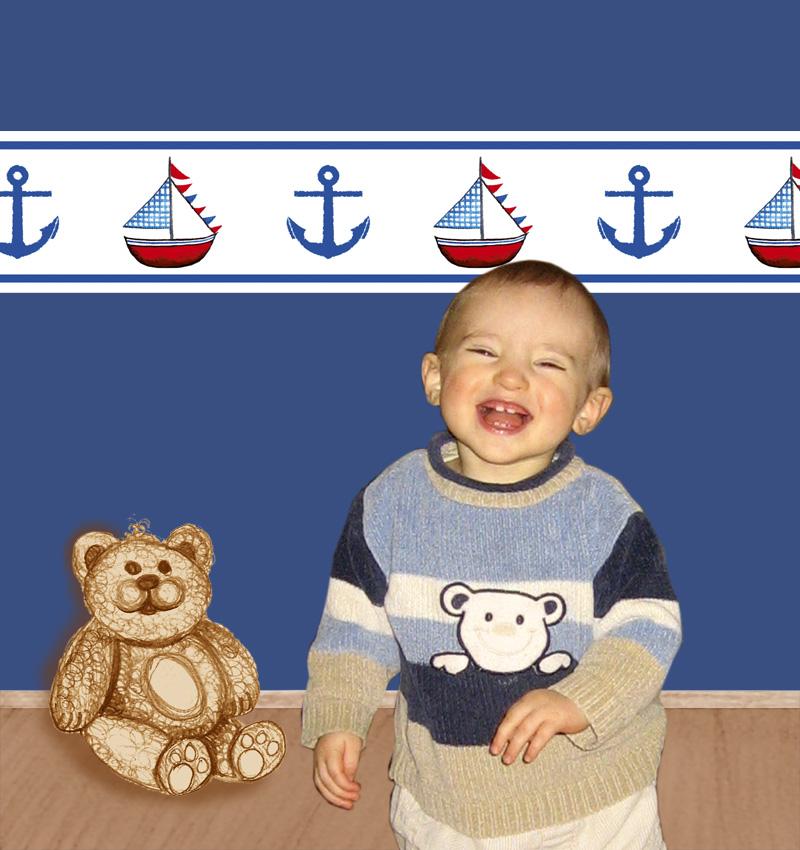 - Kinderbordüre - selbstklebend | Anker & Segelschiff - 10 cm Höhe | Vlies Bordüre mit maritimen Motiven - Kinderbordüre - selbstklebend | Anker & Segelschiff - 10 cm Höhe | Vlies Bordüre mit maritimen Motiven