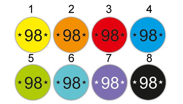 Kleinesbild - 45 mini Bügeletiketten 2cm Ø   Größenlabel - Sternchen  2   dauerhafte Kleidungsetiketten zum aufbügeln  (Kopie id: 100247537)