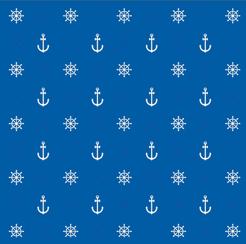 - Wandbordüre - selbstklebend | Anker & Steuerrad - 18 cm Höhe | Vlies Bordüre mit maritimen Motiven - Wandbordüre - selbstklebend | Anker & Steuerrad - 18 cm Höhe | Vlies Bordüre mit maritimen Motiven