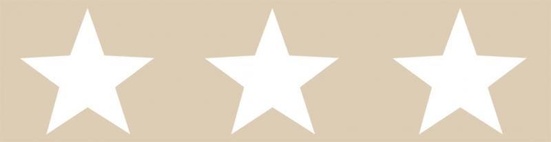 Kleinesbild - Kinderbordüre - selbstklebend | Große Sterne - natur - 10 cm Höhe | Vlies Bordüre mit großen Sternen