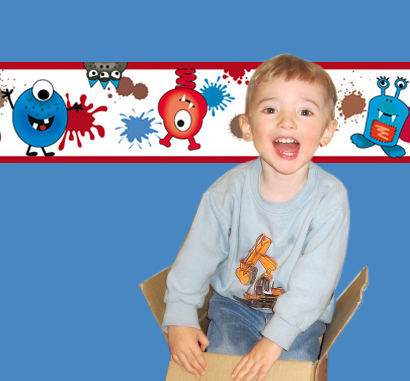 - Kinderbordüre - selbstklebend   Farbklecks Monster - 15 cm Höhe   Vlies Bordüre mit lustigen bunten und fröhlichen Monstern - Kinderbordüre - selbstklebend   Farbklecks Monster - 15 cm Höhe   Vlies Bordüre mit lustigen bunten und fröhlichen Monstern