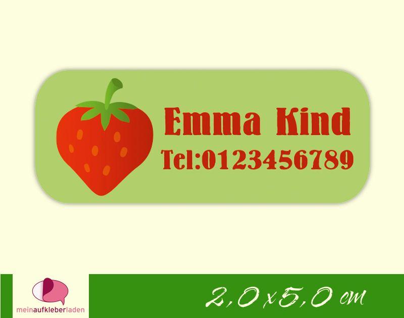 - 52 Namensaufkleber  | Erdbeere | eckig - personalisierbar | Namensetiketten, Schuletiketten  - 52 Namensaufkleber  | Erdbeere | eckig - personalisierbar | Namensetiketten, Schuletiketten