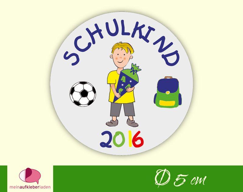 - Aufkleber zur Einschulung - rund: Schulkind - Junge mit Schultüte   umweltfreundlich    - Aufkleber zur Einschulung - rund: Schulkind - Junge mit Schultüte   umweltfreundlich