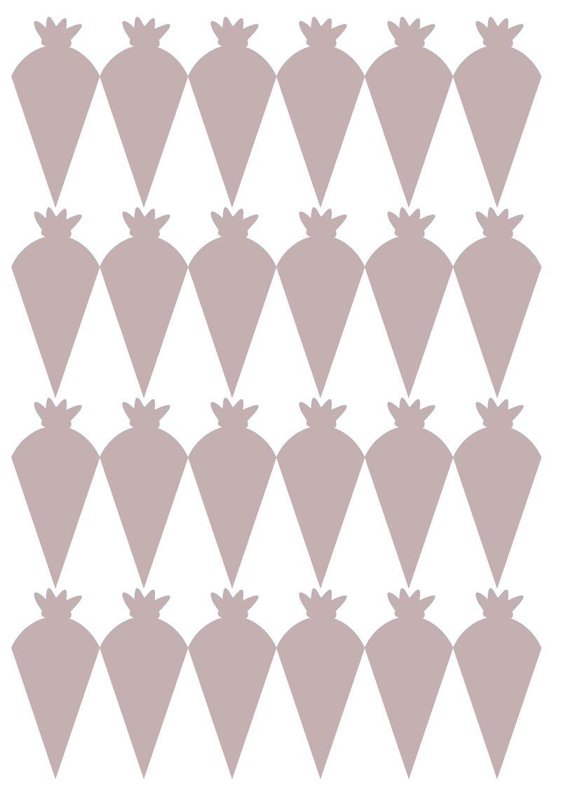 Kleinesbild - 24 Aufkleber zur Einschulung: Schultüte Blümchen - lila flieder | personalisierbar, umweltfreundlich, Formaufkleber